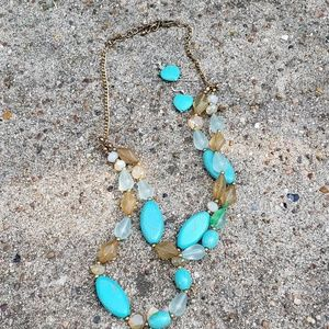 Jewelry - Turquoise earrings & necklace set